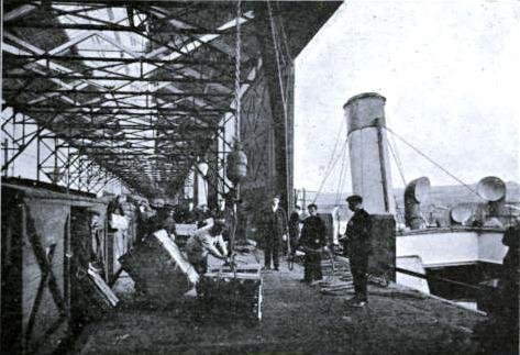 Loading a North Western Steamer at Holyhead