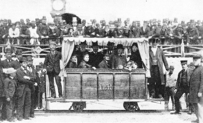 THE OPENING CEREMONY of Volk's Electric Railway on August 3rd, 1883