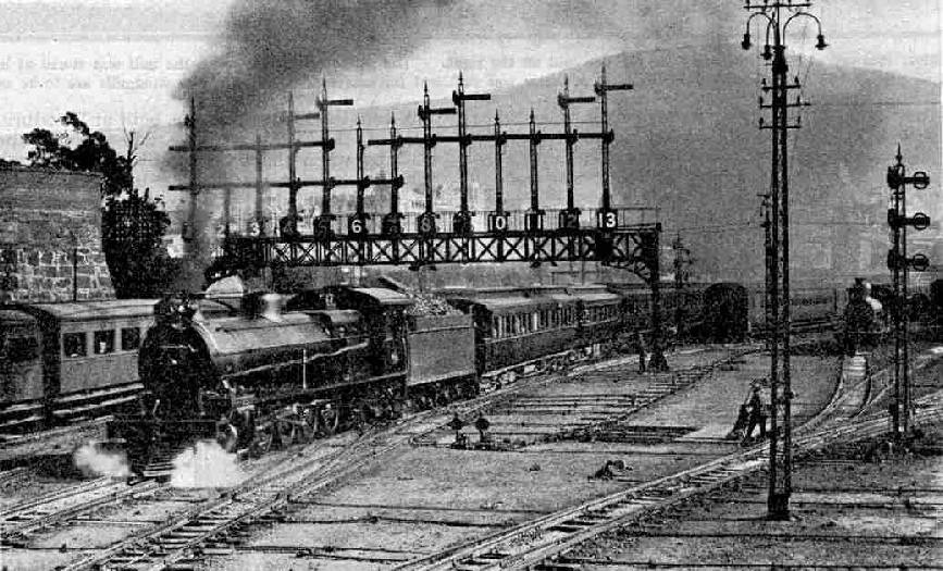 The Union Express leaving Capetown with 4-8-2 locomotive