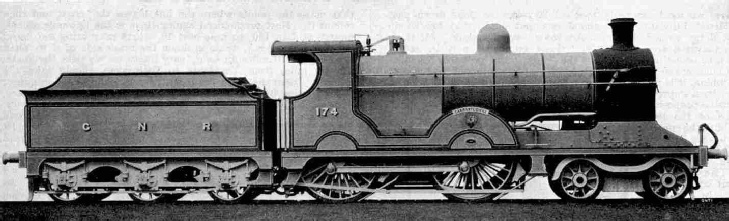 GNR (Ireland) 4-4-0 locomotive No. 174 Carrantuohill