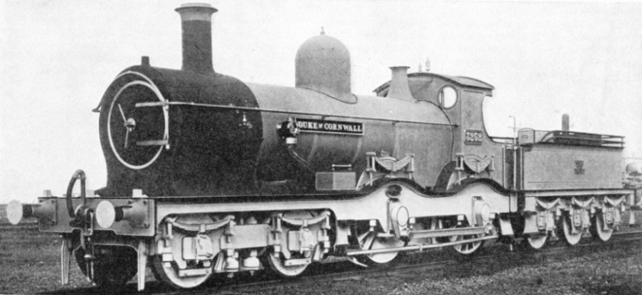 "A GWR 4-4-0, the ""Duke of Cornwall"""