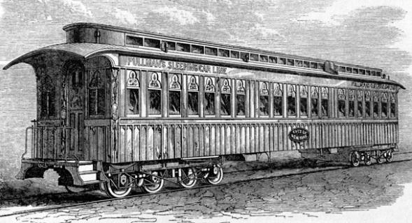One of the early Pullman sleeping cars