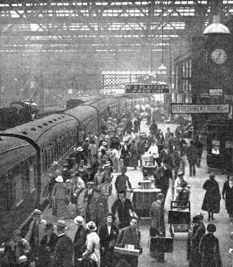 The arrival of an LMS express at Carlisle
