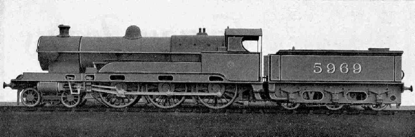 LMS 4-cylinder 4-6-0 Locomotive No. 5969, Claughton Class