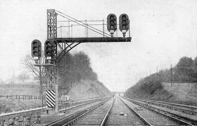 Colour-light signalling is employed by the Southern Railway for their electric service to Brighton - the greatest scheme of its kind in the world