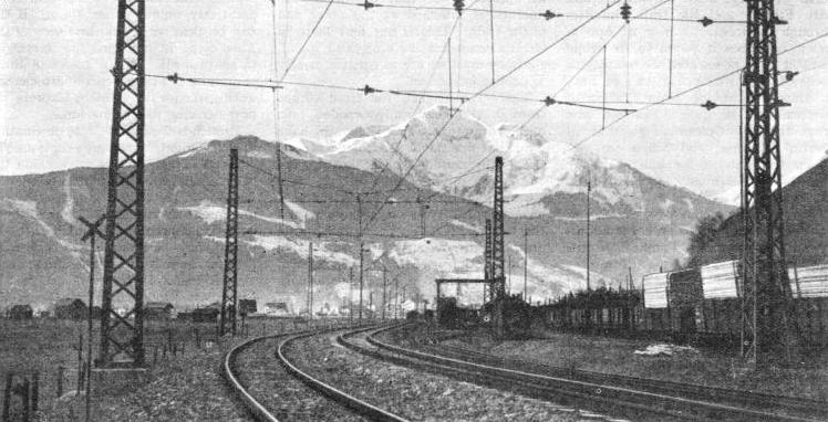 A stretch of line over which the famous train passes, at Zell am See in the Austrian Alps