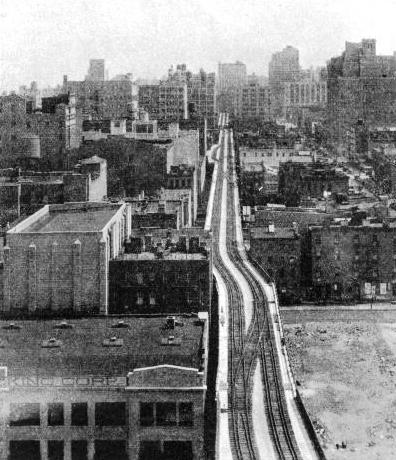 AN ELEVATED FREIGHT LINE IN NEW YORK