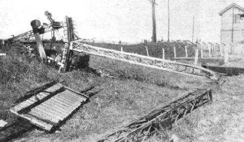 the effect of a storm on a signal standard on the Transandine Railway