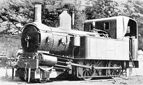 A STANDARD 2-4-0 TANK locomotive which was built for the Isle of Man Railway by Messrs. Beyer, Peacock & Co Ltd