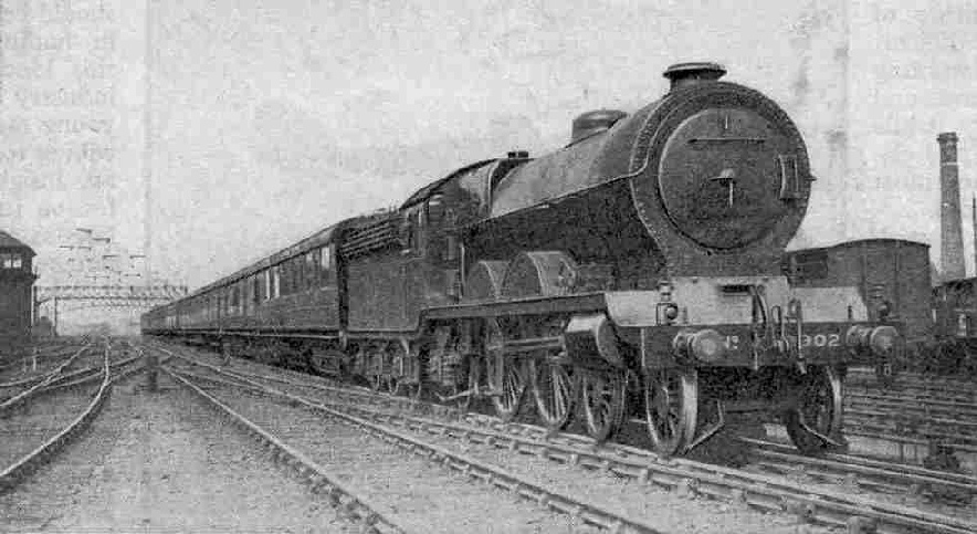The Aberdonian leaving Aberdeen, hauled by 4-4-2 engine No. 9902 Highland Chief