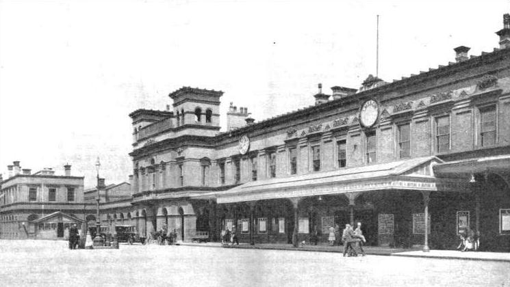 "CHESTER STATION, on the route of the ""Irish Mail"" from London to Holyhead"
