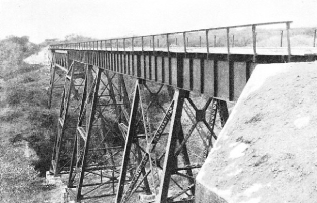 A NEW TRESTLE BRIDGE on the lines of the National Railways of Mexico