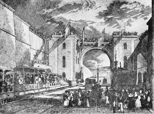 The opening of the Liverpool and Manchester Railway