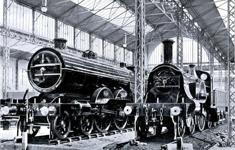 "PAST AND PRESENT - THE ""FLYING SCOTSMAN"" IN 1870 AND 1910"